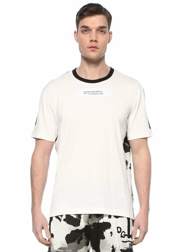 Dolce&Gabbana Dolce&Gabbana  Kamuflaj Desen Detaylı Logolu T-shirt 101620244 Renkli